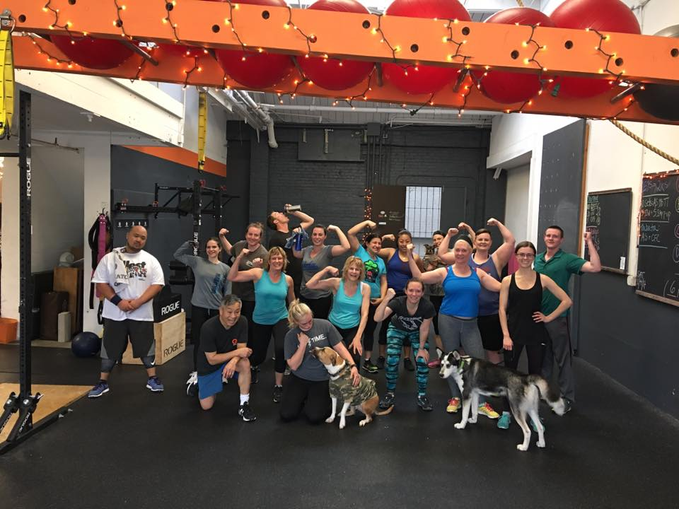 Game Changer Fitness participants — and some dogs too